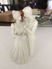 Lenox Wedding Promises Collection Bride & Groom Ivory China Cake Topper, Elnc
