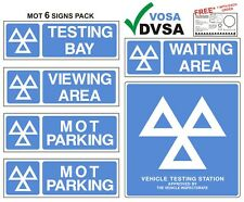 MOT SIGN | MOT SIGNS | VOSA DVSA | OFFICIAL MOT 6 SIGNS PACK + FREE GIFT