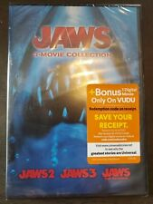 New listing Jaws 3-movie Collection Dvd (Brand New Sealed) Free Shipping