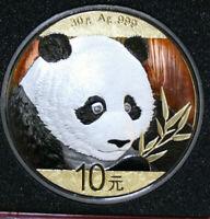 "China 10 Yuan 2018 Silber Panda #F3955 PP-Proof ""Masterpiece"" Quartett Metal"