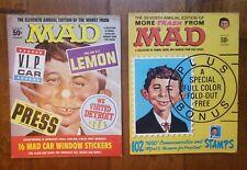 Vintage 2 MAD Magazine Seventh Eleventh Annual Edition w Block Stickers Neuman
