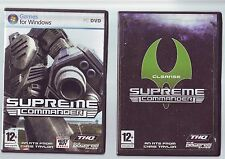 SUPREME COMMANDER UEF LIMITED EDITION FACTION PACK - 2 DISCS PC GAME - FAST POST