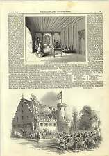 1845 Prince Albert Birthday Celebration Rosenau Luther's Bedroom In Citadel