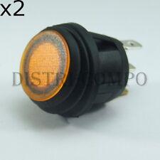 Interrupteur à bascule unipolaire IP65 orange ON-OFF 250V 10A (lot de 2)