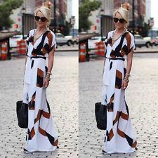 Fashion Women Summer Sleeveless Evening Party Beach Long Maxi Sundress Dress**