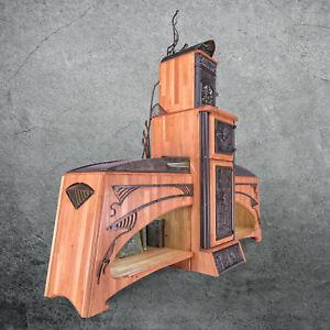 Sideboard, Kommode im Jugendstil Massivholz Buche Schmiedeeisen Designermöbel