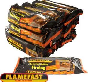 # 12 FLAMEFAST INSTANT-LIGHT SMOKELESS FIRE LOG BURNS FOR 2-3 HOURS Uk 🇬🇧