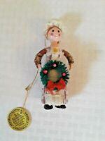 Christmas Around The World Traditional America wood Ornament 1980 Vintage Sears