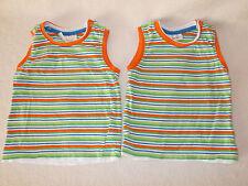 2x Baby Kinder ärmelloses T-Shirt Shirts Gr. 80 gestreift Ergee Zwillinge Set