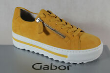Gabor Women's Sneakers Lace Up Low Shoes Trainers Slippers Yellow New