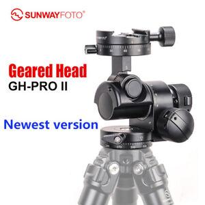 New Version SunwayFoto GH-PRO II Gear Head Panoramic Tripod Head fr DSLR Camera