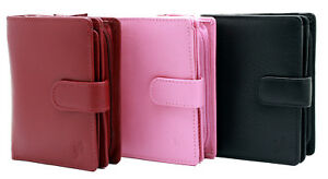 StarHide Ladies Womens Designer Real Nappa Leather Zipped Wallet Purse Gift 5530