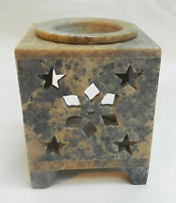 Carved Star Design Soapstone Fragrance Oil Burner - BNWT