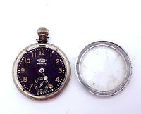 Vintage Ingersoll Leader Radiolite Pocket Watch for restoration