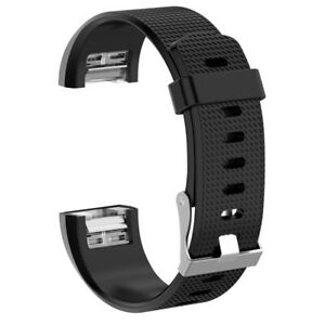 Replacement Silicone Wrist Band Strap Bracelet Fitbit Charge 2 Smart Watch SM LG