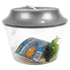 New Goldfish Bowl Starter Kit w/ Plant Gravel Fish Tank Aquarium Bubble Habitat