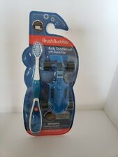BRUSH BUDDIES KIDS TOOTHBRUSH WITH RACE CAR BLUE HAIR ULTRA SOFT 3+ YEARS