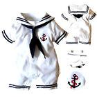 0-18 mois Bébé Garçon Tout-petit Anchor Sailor Barboteuse Combinaison