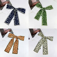 Skinny Small Silk Scarf Hair Neck Tie Band Neckwear Ribbon Neckerchief