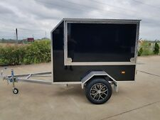 ALUMINUM ENCLOSED TRADESMAN TRAILER -  NEW ALLOY WHEELS