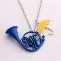 HIMYM How I Met your Mother Yellow Umbrella + Blue French horn Necklace Pendant