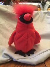 """Rare Retired Ty Beanie Baby """"Mac"""" The Red Cardinal w/Errors Mint In Case"""