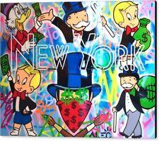 Alec Monopoly New York XXL 150 x120 cm 3 mm Alu Dibond Pop Art/Malerei/StreetArt