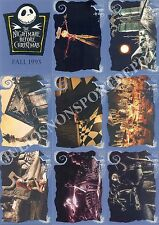 THE NIGHTMARE BEFORE CHRISTMAS 1993 SKYBOX PARTIAL BASE CARD SET MISSING 1 DY