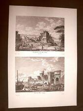 Città e Porto Licata Alicata Agrigento Girgenti Voyage Pittoresque di Saint Non