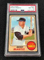 New York Yankees Mickey Mantle 1968 Topps #280 PSA 8 NM-Mint Well Centered