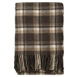 NWT Pendleton Throw Brown plaid color 100% Alpaca Wool  Brand New  NOT A BLEND.