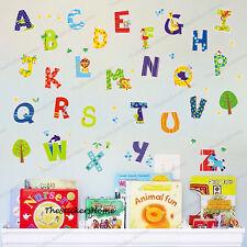 Alphabets Wall Stickers 52pc Children Kids Baby Nursery Boy Girl Room Decor ABC