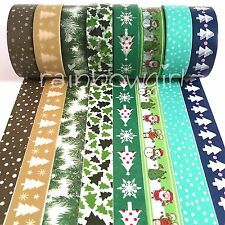 Set of 8 Christmas Holiday 15mm Washi Tape for Planners Stationary Erin Condren
