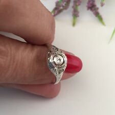 Art Deco Ring Sterling Silver Anello Argento Antico