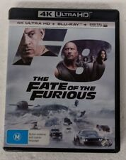 THE FATE OF THE FURIOUS - 4K ULTRA HD + Blu-ray Region B oz seller DVD fast
