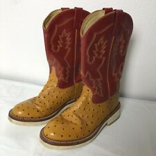 Smoky Mountain Boots Men's Size 7 5055 Leather Round Toe Western Cowboy Red