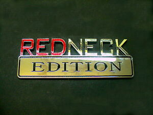 Chevy Trucks REDNECK Chrome Tailgate Quarter Panel Emblem Decal Badge Plaque