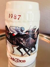 Oak Tree Santa Anita Park Horse Racing Beer Mug Stein 1987 Autumn Classic