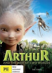 Arthur And The War Of The Two Worlds (DVD, 2016, R4) - Used Good Condition -