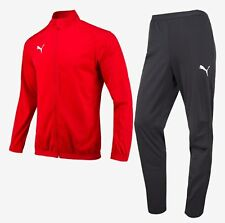 Puma Men LIGA Side-Line Track Suit Set Red Soccer Jacket Pant Jersey 65530901