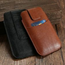 Phone Cases Belt Anti Knock PU Leather Classic Plain Covers For iPhone Samsung
