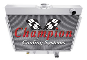 Champion Cooling 24 Inch Core 3 Row All Aluminum Replacement Radiator CC338 Ford