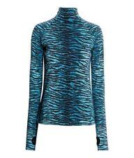 New Kenzo & HM blue tiger print turtleneck top Size UK 8 Eur 36