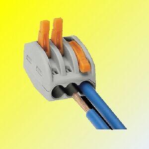 WAGO Spring Lever Reusable Cable Connectors 2 3, 5 wire connectors