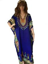 Africa Printed Women Kaftan Polyester Short Dress Caftan Beach Cover