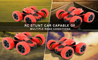 🚗RC Stunt Car Toy🚗4WD 2.4Ghz Remote Control Double Sided Rotating Vehicle 360°