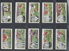 CHURCHMAN - FOOTBALLERS (COLOURED) - FULL SET OF 50 CARDS