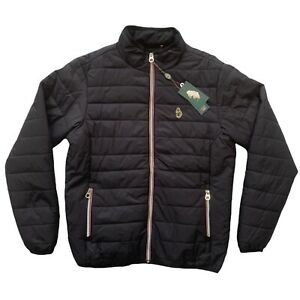 Luke1977 Mens Black Quilted Calgary Jacket Size L NEW RRP £120