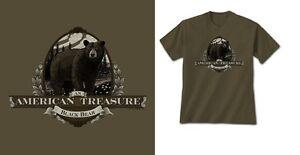 Black Bear T-shirt S M L XL 2XL American Treasure Unisex NWT Gildan Cotton