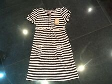NWT Juicy Couture New Pink & Brown Soft Cotton Dress With Juicy Logo Girls Age 8